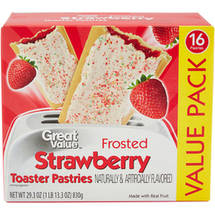 Great Value Frosted Strawberry Toaster Pastries