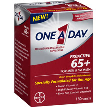 One a Day Proactive 65+ Multivitamin Supplement for Men & Women