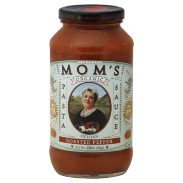 Mom's Pasta Sauce Organic  Roasted Pepper Pasta Sauce