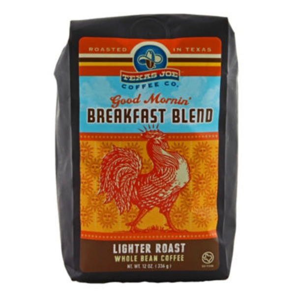 Texas Joe Lighter Roast Breakfast Blend Whole Bean Coffee