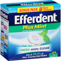 Efferdent Plus Mint Anti-Bacterial Denture Cleanser Tablets