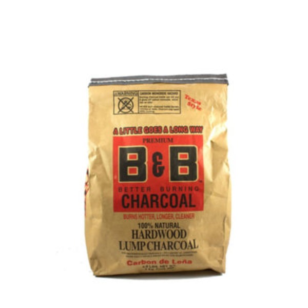 B&B 100% Natural Hardwood Lump Charcoal