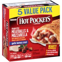 Hot Pockets Italian Style Meatballs & Mozzarella Sandwiches