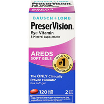Bausch & Lomb PreserVision Eye Vitamin and Mineral Supplement with Areds