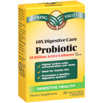 Spring Valley 10X Digestive Care Probiotic Dietary Supplement Capsules
