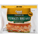 Great Value Thin Sliced Premium Oven Roasted Turkey Breast & White Turkey