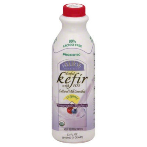 Helios Organic Nonfat Pomegranate/Blueberry Kefir