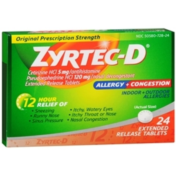Zyrtec-D Tablets for Allergy Symptom Relief