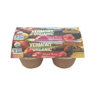 Vermont Village Organic Mixed Berry Apple Sauce Cups