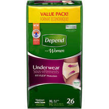 Depend FIT-FLEX Maximum Absorbency Incontinence Underwear for Women XL