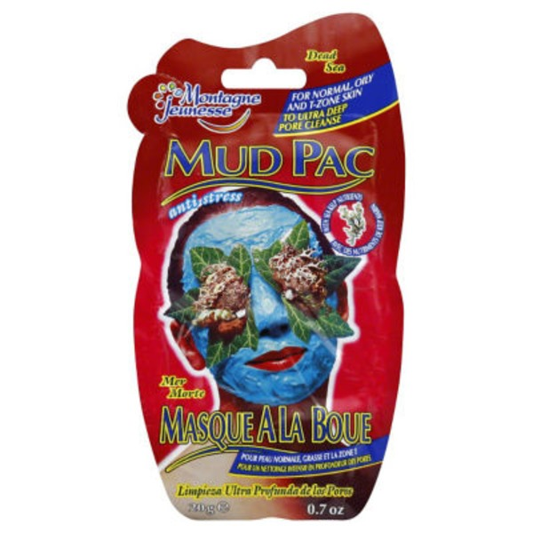 Montagne Jeunesse Anti-Stress Mud Pac for Normal, Oily and T-Zone Skin Dead Sea