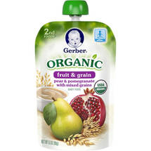 Gerber 2nd Foods Organic Fruit ; Grain Pear ; Pomegranate with Mixed Grains Baby Food