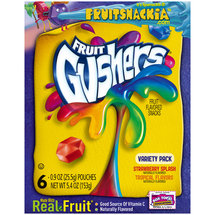 Betty Crocker Fruit Gushers Tropical Flavors Fruit Flavored Snacks Variety Pack
