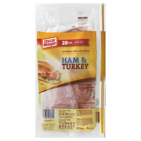 Oscar Mayer Cold Cuts Ham & Turkey Sub Kit