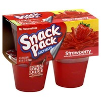 Snack Pack Strawberry Gelatin 4 Ct Juicy Gels