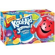 Kool-Aid Jammers Tropical Punch Juice Drink 10 Ct/60 Fl Oz