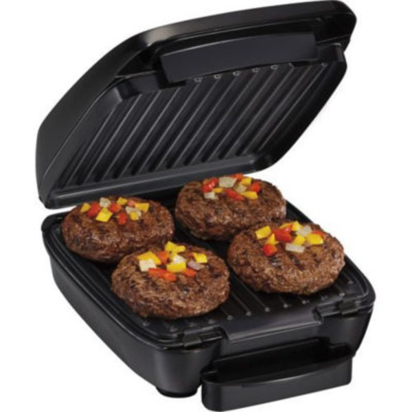 Hamilton Beach Black Indoor Grill With Removable Grids