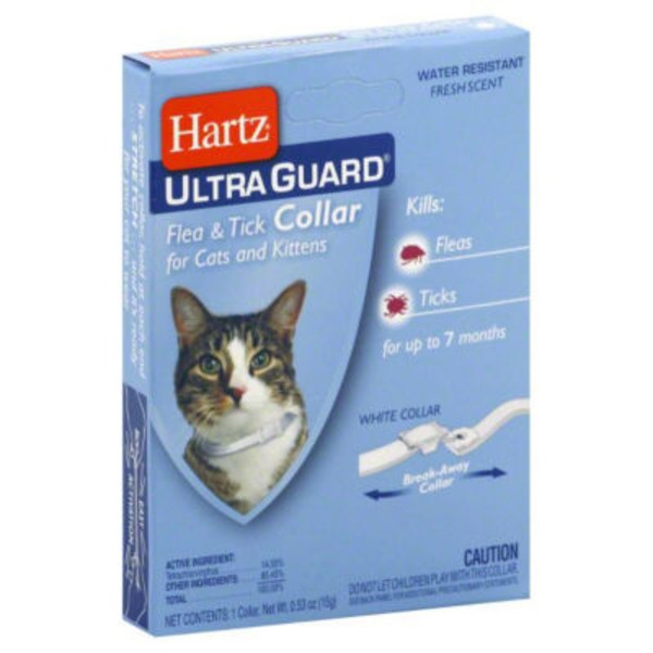 Hartz Cats, Ultra Guard, Flea & Tick Collar, Card