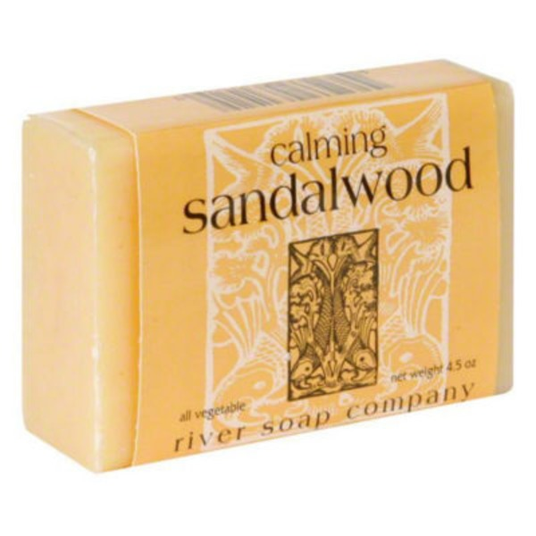 River Soap Company Body Bar Soap Calming Sandalwood