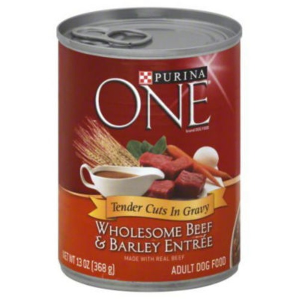 Purina One Dog Wet SmartBlend Tender Cuts in Gravy Beef & Barley Entree Adult Dog Food