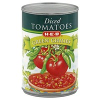 H-E-B Diced Tomatoes Green Chilies