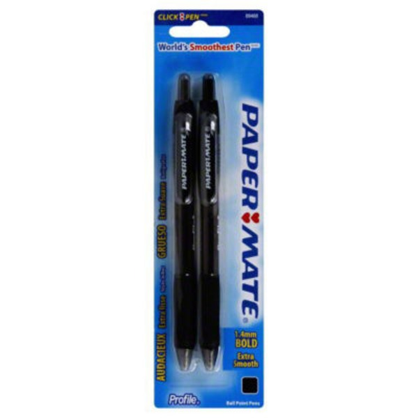 Paper Mate Profile Ball Point Pen Black - 2 CT