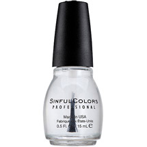 Sinful Colors Professional Nail Polish Clear Coat