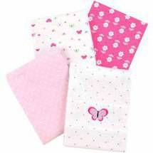 Child of Mine by Carter's Little Birds and Friends 4-Pack Flannel Receiving Blankets