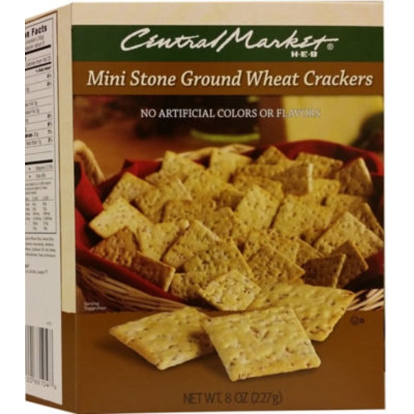 Central Market Mini Stone Ground Wheat Crackers