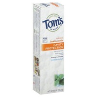 Tom's of Maine Fluoride Toothpaste Natural Baking Soda Cavity Protection Peppermint