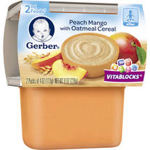 Gerber 2nd Foods Peach Mango with Oatmeal Cereal Baby Food