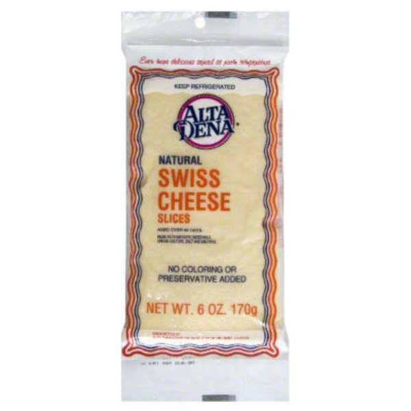 Alta Dena Natural Swiss Cheese Slices