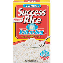 Success Natural Long Grain Boil-In-Bag 4 ct Rice