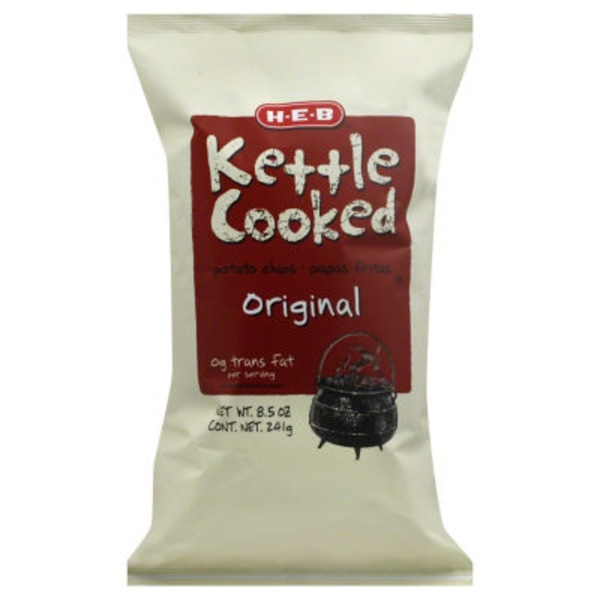 H-E-B Original Kettle Cooked Potato Chips