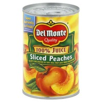 Del Monte Sliced Yellow Cling in 100% Fruit Juice Peaches