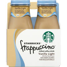 Starbucks Vanilla Lite Frappuccino Coffee Drink 4 Ct/38 Fl Oz