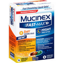 Mucinex Sinus-Max Day Severe Cold/Night Cold & Flu Liquid Gels