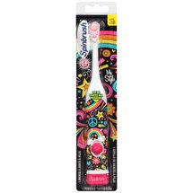 Arm & Hammer Spinbrush Flowers/Hearts/Designs Soft Powered Toothbrush