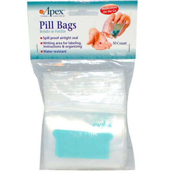 Apex Pill Bags - 50 Ct