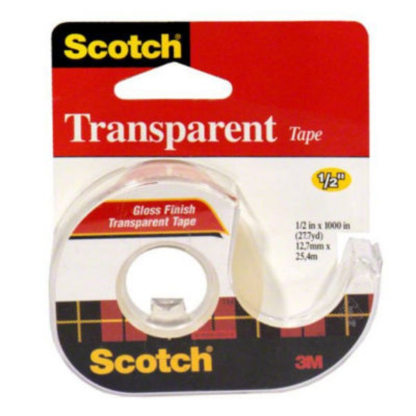 Scotch Transparent Tape 1/2