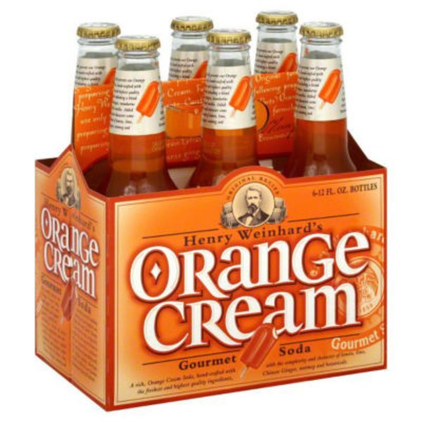 Henry Weinhard's Sodas Orange Cream Gourmet Soda