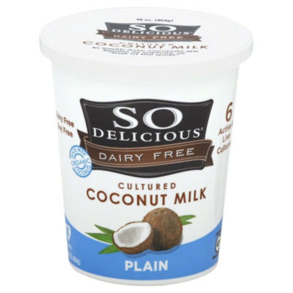So Delicious Dairy Free Plain Cultured Coconut Milk