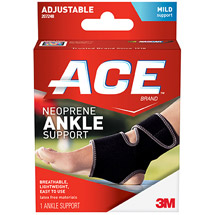 ACE Neoprene Ankle Support 207248 One Size Adjustable