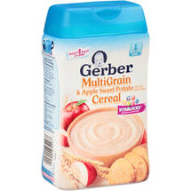 Gerber Multigrain & Apple Sweet Potato Cereal