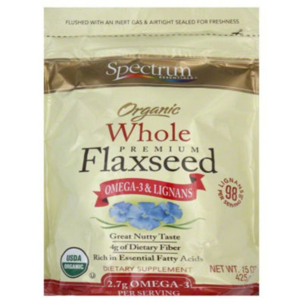 Spectrum Essentials Organic Whole Premium Flaxseed Omega-3 & Lignans