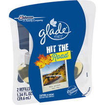 Glade PlugIns Hit the Road Scented Oil Air Freshener Refills