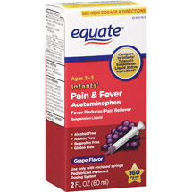Equate Infants' Liquid Grape Fever Reducer/Pain Reliever