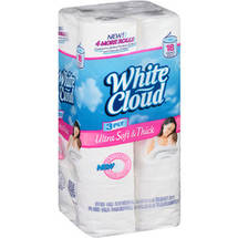 White Cloud Ultra Strong & Soft Double Roll Bathroom Tissue