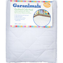 Garanimals Quilted Fitted Crib Pad 28x52Fitted Crib Pad 28x52