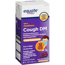 Equate Children's Cough DM Grape-Flavored Cough Suppressant Liquid